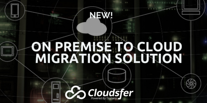 On premise to cloud migration solution
