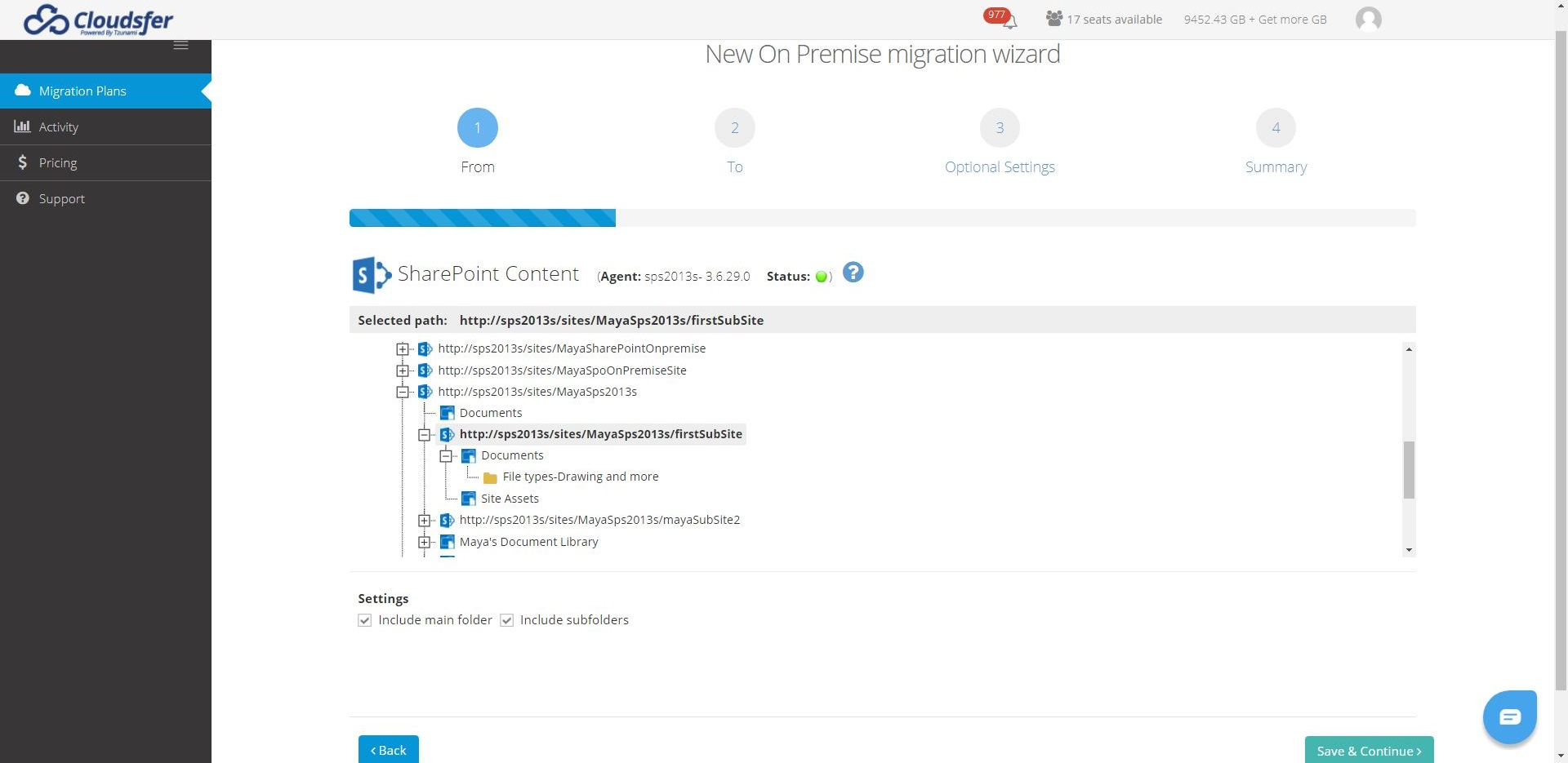 sharepoint on premise to cloud migration