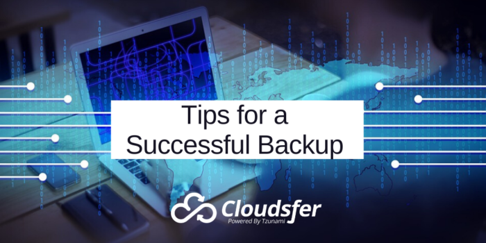 tips for backup data